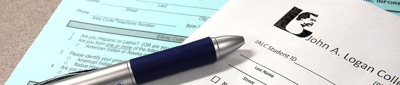 Pen laying on forms