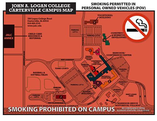 Campus Map for Smoking