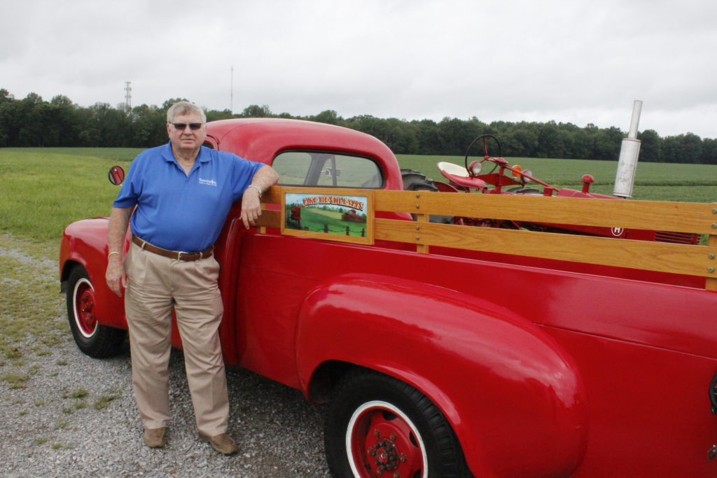 Jake Rendleman pictured with a 1949 Studebaker